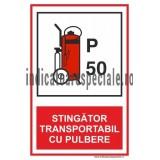 STINGATOR TRANSPORTABIL CU PULBERE