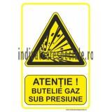 ATENTIE ! Butelie gaz sub presiune