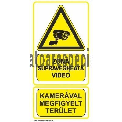 ATENTIE ! Zona supravegheata video, Bilingv